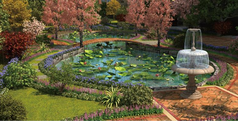 花卉景观配置手绘